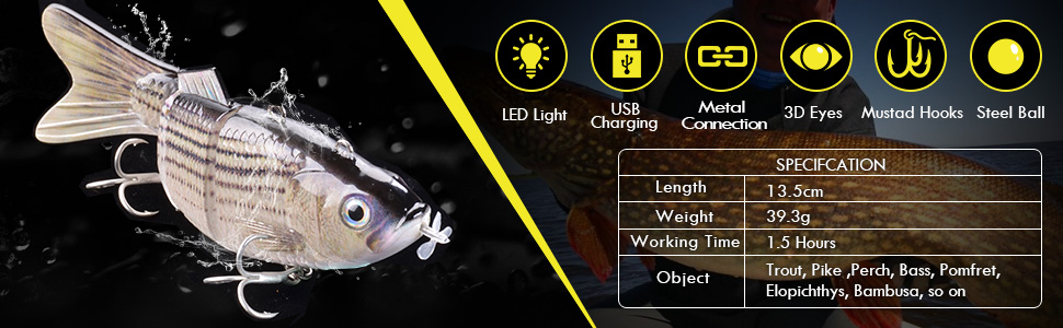 robotic swimming lure for freshwater saltwater