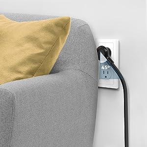 power strip flat plug