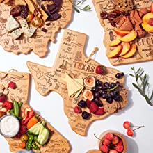 There is a cutting board for every state available by Totally Bamboo.