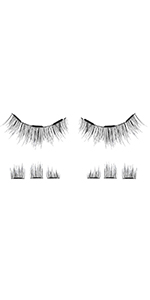 3 magnets 2 magnetic dual double trip magnetic eyelashes top bottom one two prime natural silk vegan