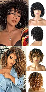 Summer Short Curly Wigs