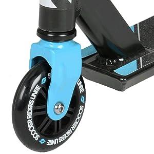stunt scooter hyper riprail blue wheel PP core PU abec-7