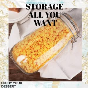 food cereal grocery storage jars