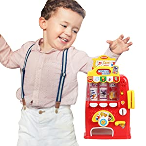 GREAT GIFT FOR 3 TO 7 YEARS KIDS - Interactive mini vending machine toy is a great present