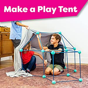 kids toys kids tents stem building fort kits indoor builder play ultimate pop up kid tent build and