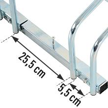 e nach Bedarf kann auch eine separate Verwendung als Einzelfahrradständer erfolgen.