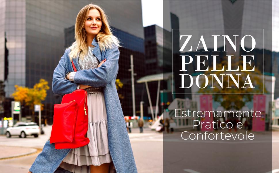 Zaino Donna Pelle Vera Pratico e Confortevole