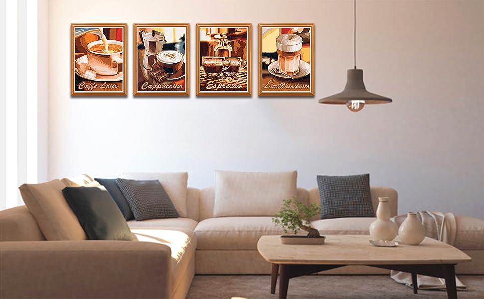 Mikolot retro Coffee Diamond Painting/ /Full drill Diamond Painting 5D DIY Diamond Painting ricamo punto croce Craft Home Decoration Art 30/* 30/cm
