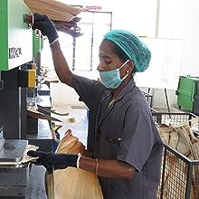 palm leaf plates pressing