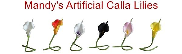 Mandy's artificial calla lily mandys 12pcs flowers for bouquets calla flower wedding bouquet