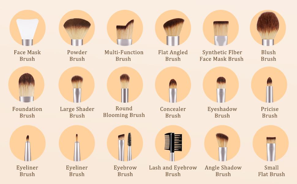 maekup brushes set