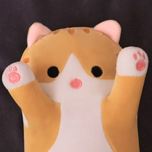 cat plush pillow