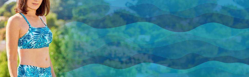 UPF 50+ Swim Bra for Women