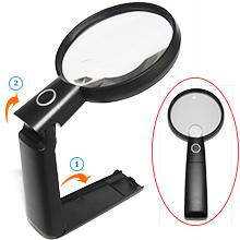 desktop magnifying glass ergonomic balanced handle design magnifier for right hander no tired arms
