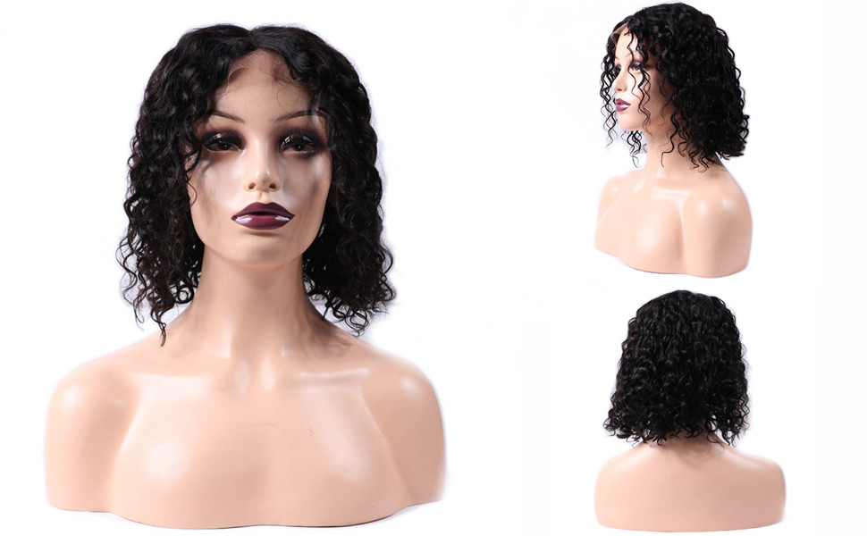 short water wave wig