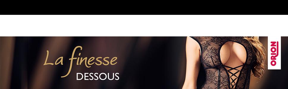 La finesse Dessous mit weiblichem Model und ORION Logo