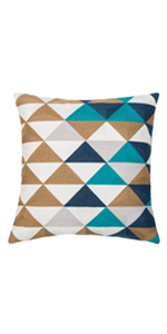 navy decorative pillows 18x18
