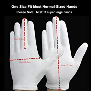 washable gloves guantes de tela para mujer cotton gloves small cotton inspection moisturizing gloves