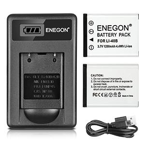 fe-5500 per Olympus fe-5050 Caricabatteria rapido con Micro USB PLUG