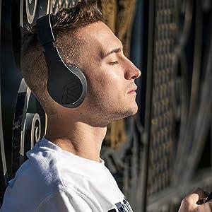 テレビヘッドフォン対応のAlexaポータブルヘッドフォンイヤーケース上のワイヤレスオーバーイヤーヘッドフォン
