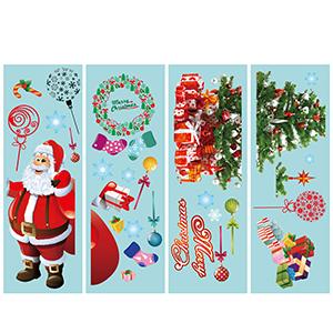 santa claus stickers for windows
