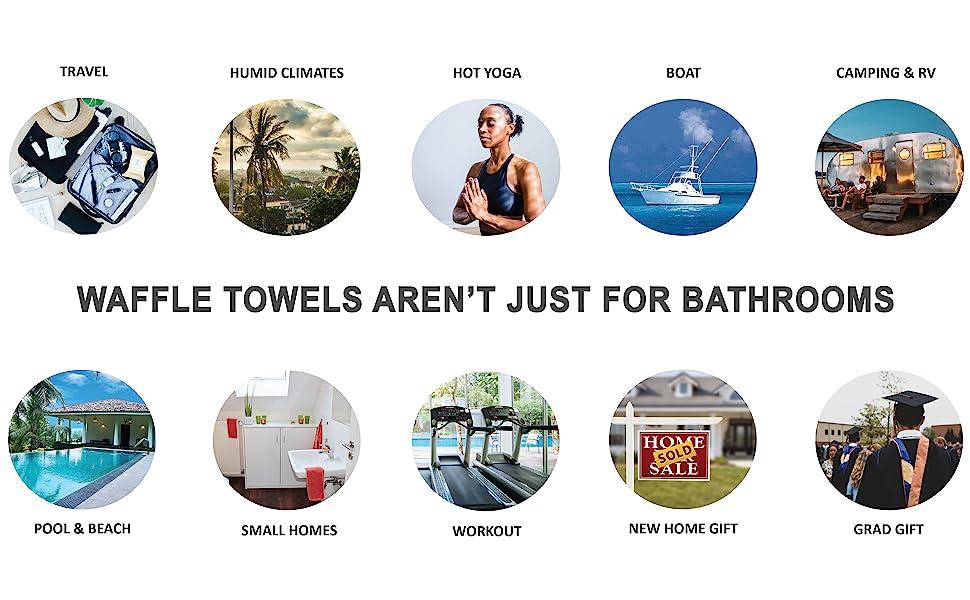 waffle towel uses travel suitcase hot yoga boat yacht camping pool house gym bag housewarming gift