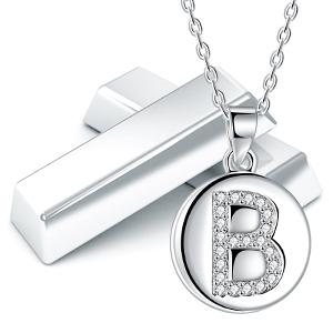 collar letra inicial mujer niñas plata 925