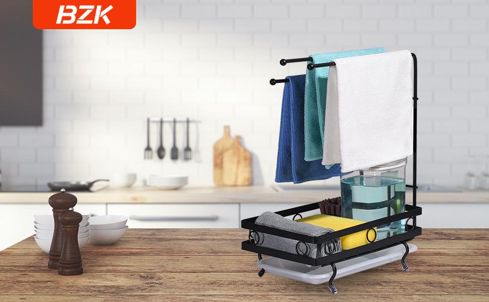 sink  sponge holder kitchen sink caddy holder towel soap organizer dish rackstorage cabinet brush