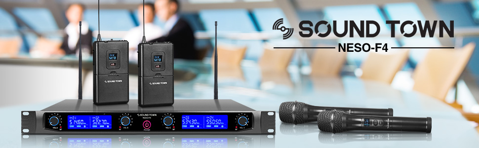 NESO-F4 Series NESO Series 4 Channels Professional UHF Rack Mountable Wireless Microphone System