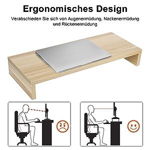 Ergonomisches Design Verabschieden Sie sich von Augenermüdung, Nackenermüdung und Rückenermüdung