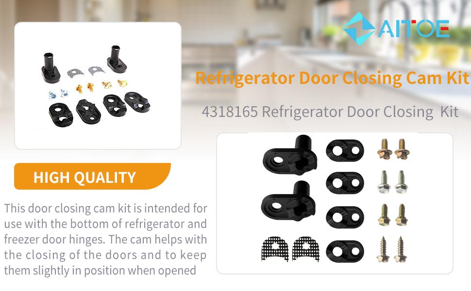 Refrigerator Freezer Door Cam Bottom Hinge Kit Repl.#4318165