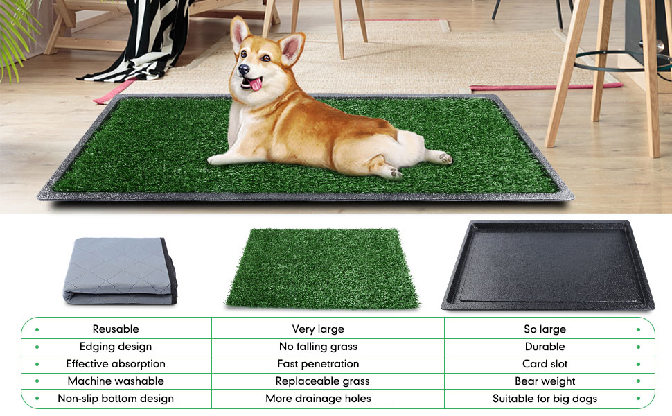 dog grass pad with tray