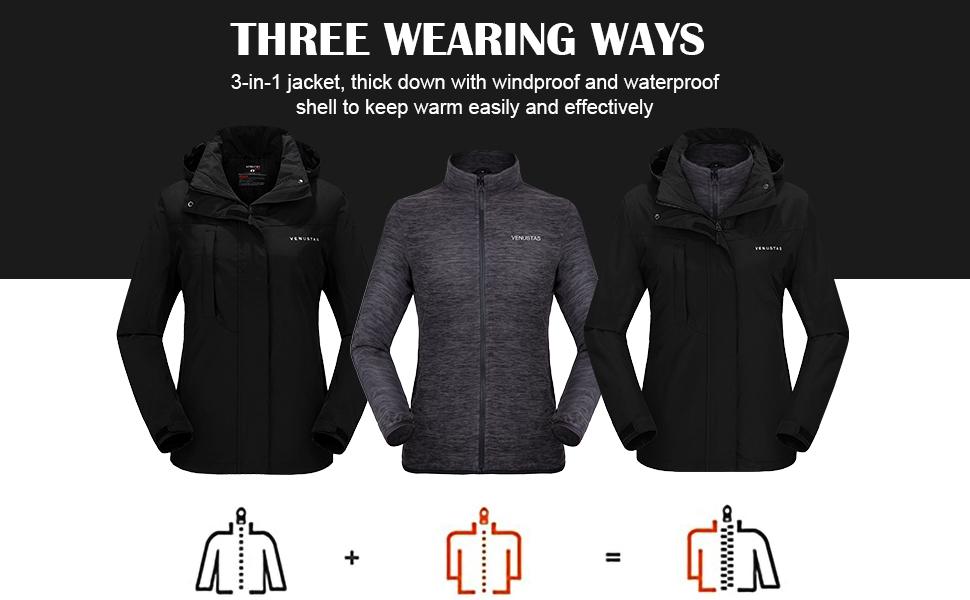 3 IN 1 heated jacket women 3 IN 1 heated jacket for women heated coat women
