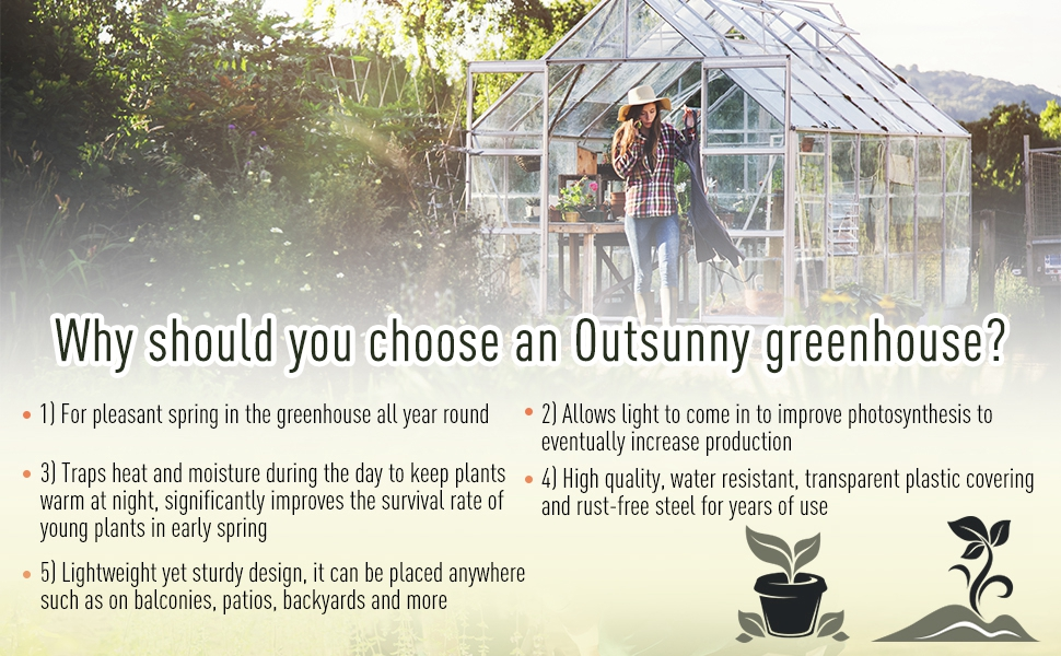 outsunny greenhouse
