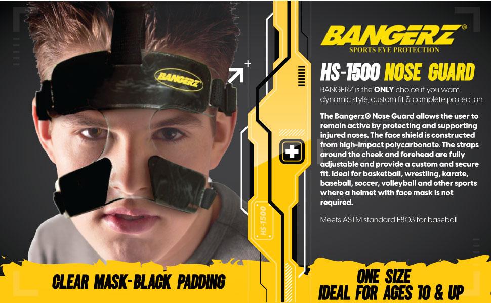 Amazon.com: Petardos hs-1500 policarbonato Nariz protector de cara por Bangerz: Sports & Outdoors