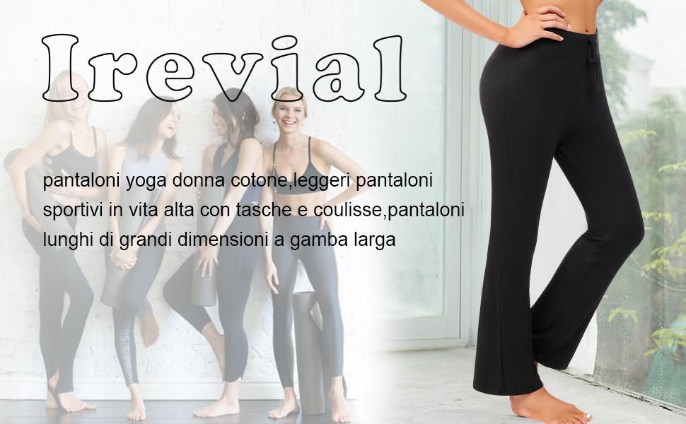 Vita Alta Pantalone Pilates Donna Pantaloni Yoga 3W GRT Pantaloni Sportivi Donna