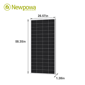 newpowa 180w solar panel Monocrystalline dimensions