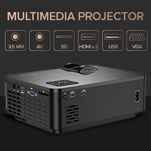 3  XIAOYA Mini Projector HD 720P with HiFi Speaker, 4000 Lumens Movie Projector Support 1080P Home Theater Projector, Compatible with HDMI, SD, AV, VGA, USB 41e2ee7d 3eb9 4fbd 81dc 0212062c995a