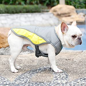 Dog Cooling Vest Harness Outdoor Sun-Proof Puppy Cooler Jacket Best for Small Medium Large Dogs
