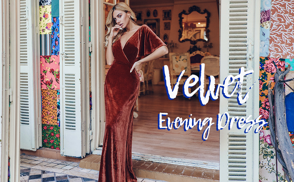 ball gown formal evening dress v neck a line wedding guest dress