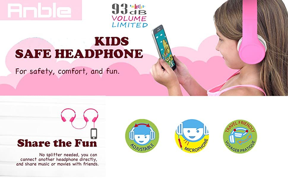 Anble Foldable Kids Headphone