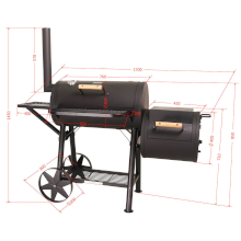 taino yuma 90 kg smoker holz-kohle-grill lokomotive grillen smoken räuchern schwarz maße