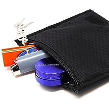 cali pouch 6in smell proof stash case key lock zipper