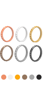 stackable silicone rings for her women sets rings thin fashion ladies travel plastic thin cute gifts