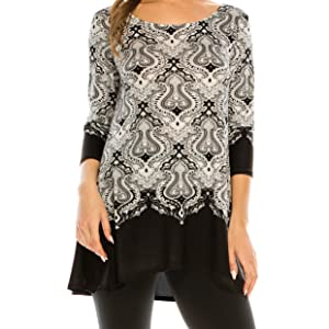 Women/'s Plus Size Top Blouse Shirt Casual Stretch Crochet Relaxed Black Tunic