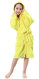 yellow hooded robe for kids