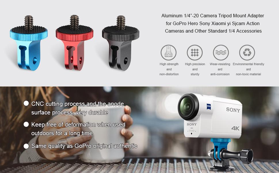Aluminum 1/4 inch 20 Camera Mount