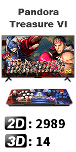 3003 Arcade Video Games Console,Family Game Pandora's Box 9s+ Multiplayer Home Joystick HDMI and VGA
