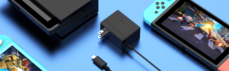 Switch Charger  Nintendo Switch cord Power Supply Switch AC Adapter Switch Lite Dock/Pro Controller