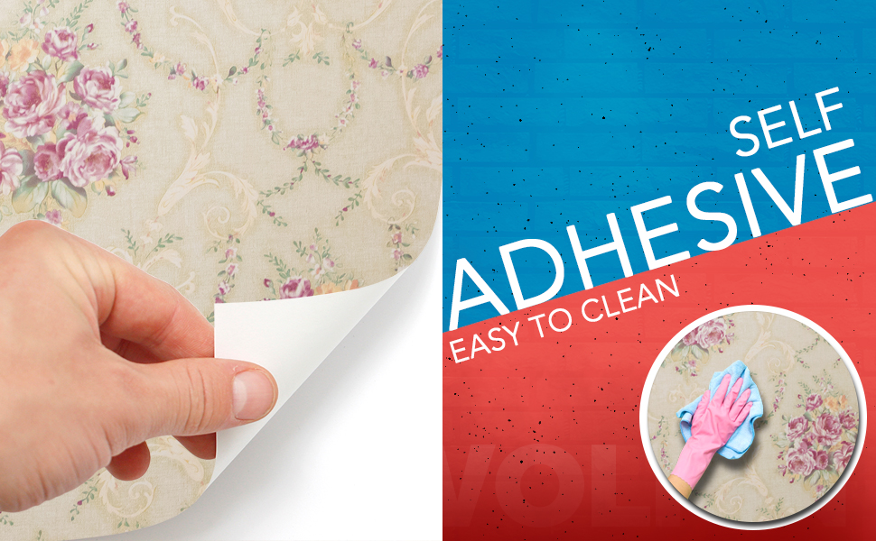 wall stickers wallpaper living room, kitchen, kids room self adhesive, easy to clean, anti oil